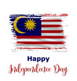 31 august malaysia independence day background vector image