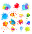 abstract paint splat paint splashes color vector image