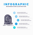 ai brain future intelligence machine infographics vector image vector image