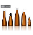 amber glass bottle set background vector image