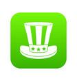 american hat icon digital green vector image vector image