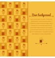 Beer mugs and hop background vector image vector image