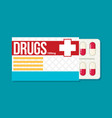 blister pack of pills flat vector image