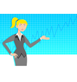 Business woman with line graph vector image vector image