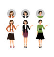 cartoon teacher women set vector image vector image