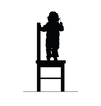 child on chair silhouette vector image vector image