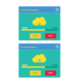 Cloud download and upload 25 vector image vector image