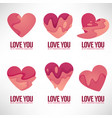 collection of heart and love logo concept vector image
