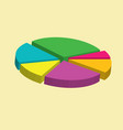 colorful 3d pie isometric chart vector image