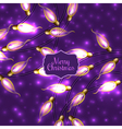 Colorful Glowing Christmas Lights on violet vector image vector image