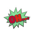 comic boom oh icon flat style vector image vector image