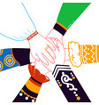 concept of national unity vector image vector image