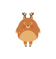 deer cartoon designcute bambi animal vector image