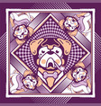dog violet vector image