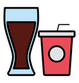 drink cup and glass design vector image vector image