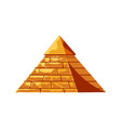 egyptian pyramid from golden sand blocks tomb vector image