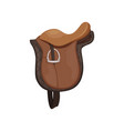 english saddle brown leather equestrian vector image