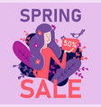 flat banner traditional spring sale online stores vector image