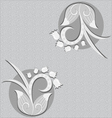 Floral background - black and white vector image vector image