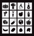 food icon with Healthy Vegetables and fruits vector image