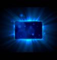 frame blue sign board shiny bar show banner vector image vector image