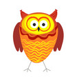 funny owl with big eyes and bright plumage vector image vector image