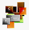 geometrical design squares abstract banner glossy vector image vector image