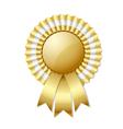 Golden rosette vector image vector image