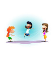 group of happy cheerful kids having fun vector image