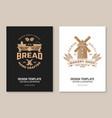 hand crafted bread bakery shop flyer brochure vector image