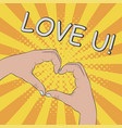 hands in heart shape gesture - love you vector image vector image