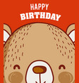 Happy birthday to you bear cartoon