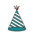 hat birthday isolated icon vector image vector image