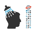 Head Shower Icon With Free Bonus vector image vector image