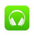headphone icon digital green vector image vector image