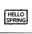 hello spring typography design vector image