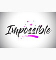 impossible handwritten word font with vibrant vector image