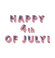 Independence Day letters from USA Flag vector image vector image