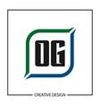 initial og letter logo template design vector image vector image