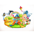kids and toys children playground 3d vector image vector image