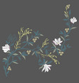 magnolia embroidery vector image vector image