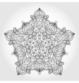 mandala star pattern vector image vector image