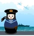 Matryoshka sailor vector image vector image