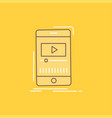 media music player video mobile flat line filled vector image