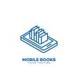 mobile books logo vector image vector image