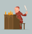 monk write chronicles historical events writer vector image vector image