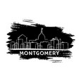 montgomery skyline silhouette hand drawn sketch vector image vector image