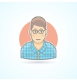 Nerd student hipster smart guy icon vector image vector image