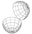open globe vector image vector image