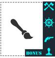paint brush icon flat vector image